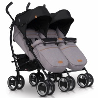 Коляска EasyGo Comfort Duo 2019 grey fox